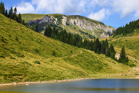 gora: Serene view of Sisko lake in Biogradska Gora National Park, Montenegro