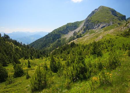 serene landscape: Serene View of Landscape in Visitor Mountains Bandera peak, Montenegro