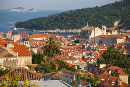 Serene view of old town of Dubrovnik, South Croatia
