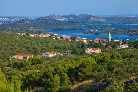 betina: Serene view of beautiful town of Murter on Murter Island, Croatia