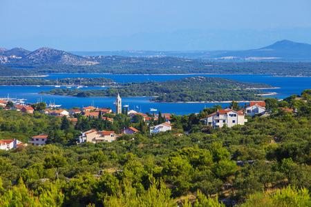 murter: Serene view of beautiful town of Murter on Murter Island, Croatia