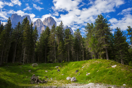magdalena: Amazing Dolomites, near Santa Magdalena. Adolf Munkel Trail in Mountains of Northern Italy