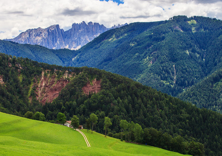 Beautiful landscape in Dolomites. Amazing Mountains in Northern Italy