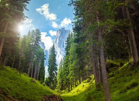 adolf: Amazing Dolomites, near Santa Magdalena. Adolf Munkel Trail in Mountains of Northern Italy
