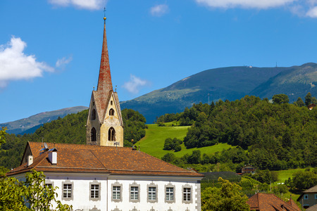 romantic places: Small town of Gufidaun (Gudon) near Klausen in south Tirol, Italy Stock Photo