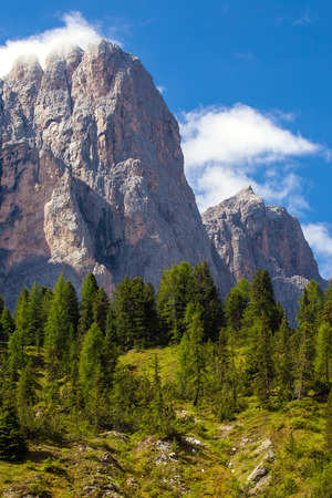 odle: Amazing Dolomites, near Santa Magdalena. Adolf Munkel Trail in Mountains of Northern Italy