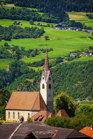 Small town of Gufidaun (Gudon) near Klausen in south Tirol, Italy Stock Photo