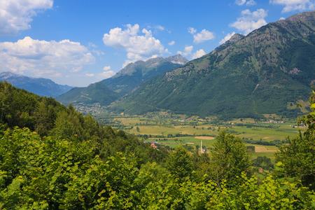 serene landscape: Serene View of Landscape in Prokletije Mountains, near Plav, Montenegro Stock Photo