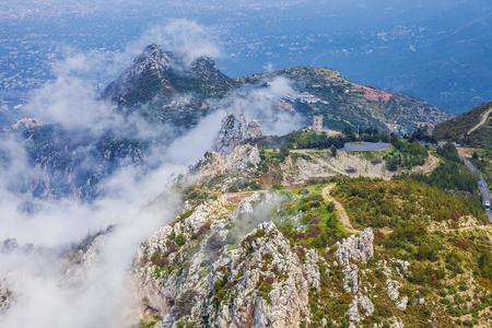 Amazing view of landscape near Saint Hilarion Castle, Girne, North Cyprus Stockfoto
