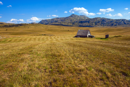 Abandoned lonely family farm in the mountains