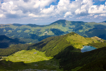 Amazing view of lake Ursulovac in Biogradska Gora National Park, Montenegro Stock Photo