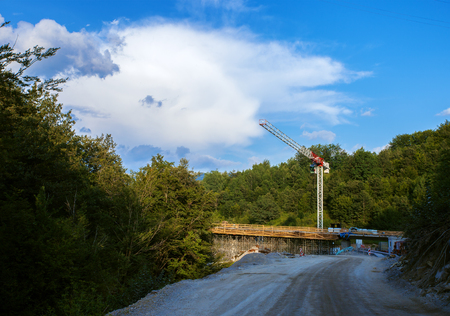 Bridge Constraction on a new highway in Montenegro