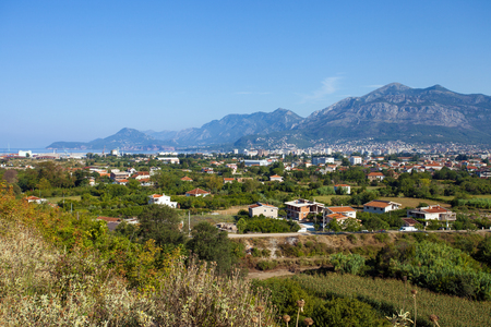 Panoramic view of countryside near Bar town, Montenegro Stock Photo