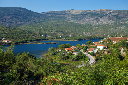 View of Trebinjsko lake near Trebinje, Bosnia and Herzegovina Stock Photo
