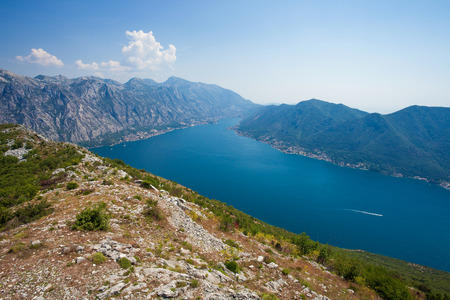 Amazing view of Boka Kotorska Bay - Southernmost Fjord of Europe Stock Photo