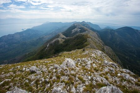Amazing view from mount Rumija in Bar municipality, Montenegro Stock Photo