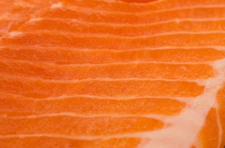A horizontal pattern formed by the marbling in salmon or trout like fish fillet photo
