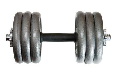 adjustable dumbbell: Heavy duty adjustable dumbbell with 6x10lbs plates