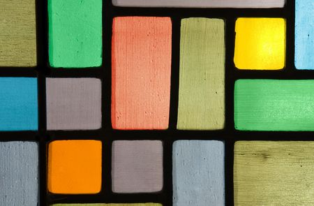 colored window: Grungy stained glass pattern Stock Photo