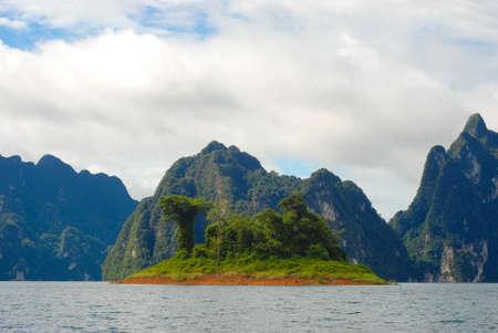 Small island on the sea