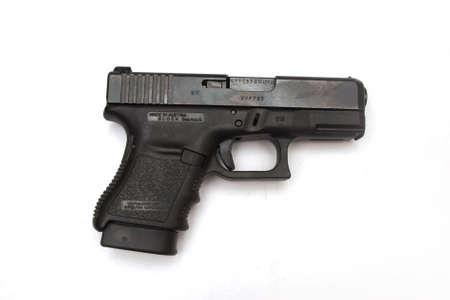 handgun that is isolated on white Stock Photo