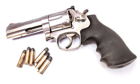 gun with bullets Stock Photo