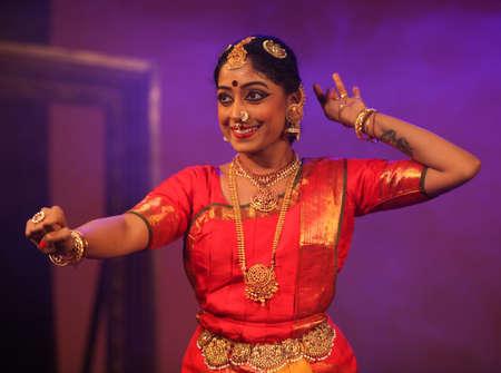 A talented bharatnatyam dancer Editorial