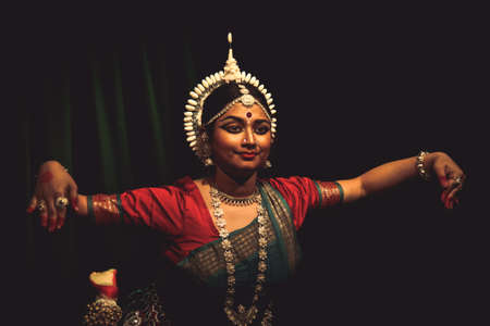 A female odissi dancer