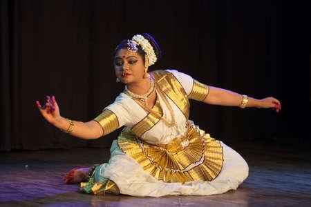A talented dancer emotes at Mohiniyattam recital event held on December 26,2016 at Sevasadan hall in Bengaluru Editorial