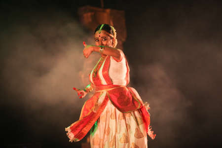 A sattriya dancer performs at event 'Drishti festival' which was staged in Chowdiah Hall,Bengaluru on January 11,2020 Editorial