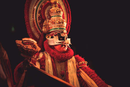 A kathakali dancer performs at event 'Drishti festival' which was staged in Chowdiah Hall,Bengaluru on January 11,2020