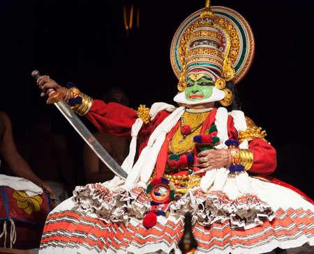 Performance of kathakali dancers on July 17,2017 in sevasadan hall in Bengaluru,India