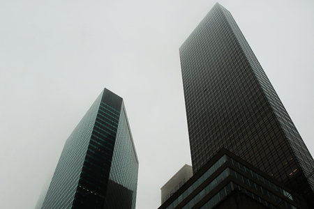 Buildings in NYC on a Cloudy Day