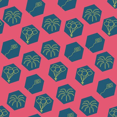 Vector pink carnival seamless pattern background. Suitable for fabrics, wallpapers, gift wrappers, scrapbook projects 向量圖像