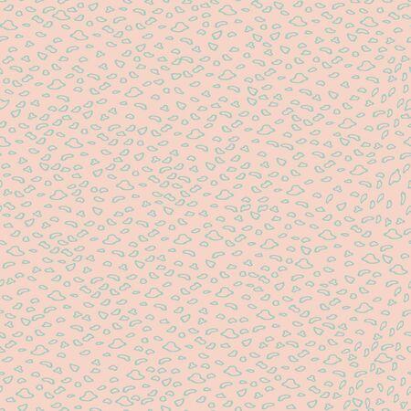 Vector peach leopard skin seamless pattern background