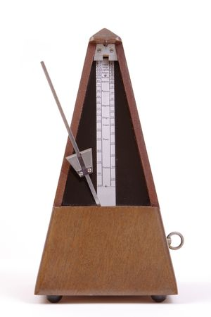 Metronome with winder on side, portrait format photo