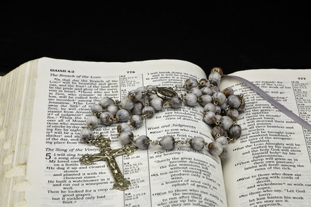 isaiah: Bible with Jobs Tears Rosary on Isaiah