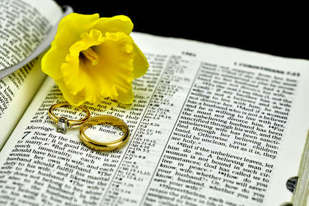 isaiah: Bible selective focus on marriage and wedding rings