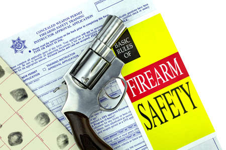 concealed: Concealed Weapon Permit Application with Gun