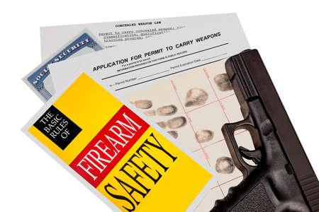 permit: Gun with Firearm Application and CCW Permit Fingerprint ID