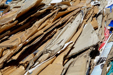 compacted: Recycle refuse waste cardboard paper compacted bail