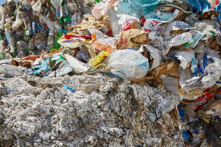 compacted: Recycled paper plastic compacted waste
