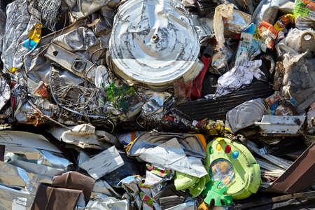 ferraille: poubelle Ferraille d�chets compact� pour le recyclage Banque d'images
