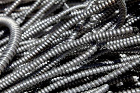 conduit: Scrap metal electrical flex conduit for recycling