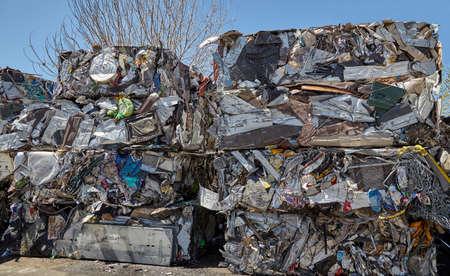 ferraille: cubes Scrap d�chets m�talliques compact�s pour le recyclage
