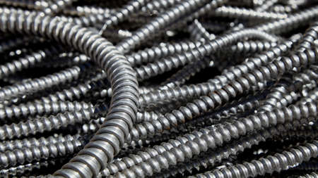 electrical materials: Scrap metal electrical conduit for recycling