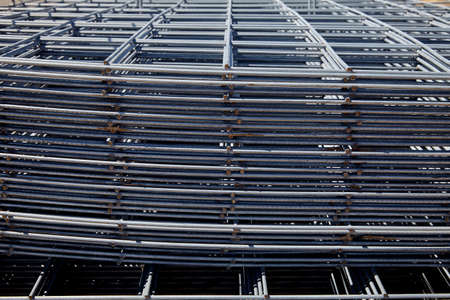 construction mesh: steel rebar and mesh for concrete reinforcing construction building industry