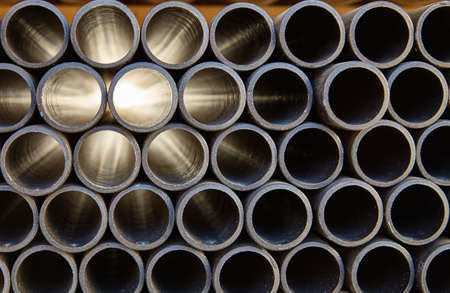 tubing: plastic pipe tubing abs pvc for building construction industry Stock Photo
