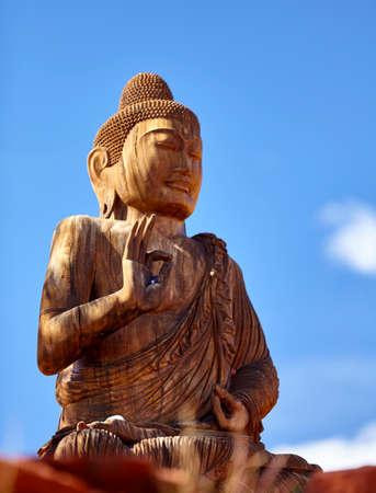 ascetic: figures of buddha in quiet meditation
