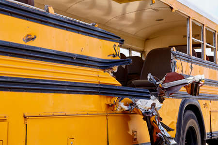 mva: school bus damage vehicle accident collision